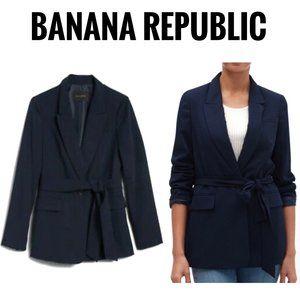 NWT Banana Republic Navy Soft Belted Jacket Size 8